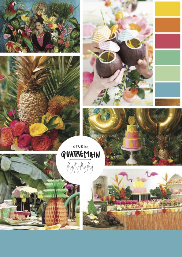 Moodbord Tropical Party