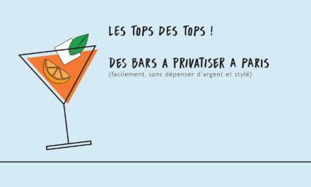 Huit bars à privatiser à Paris pour une soirée