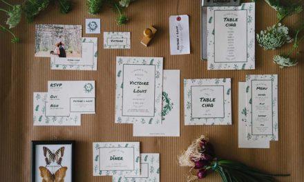 Les inspirations qui se cachent derrière la collection de papeterie de mariage Simply Botanic