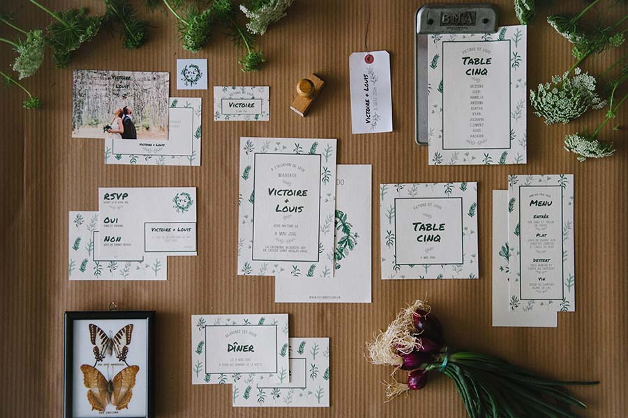 La collection de papeterie de mariage Simply Botanic