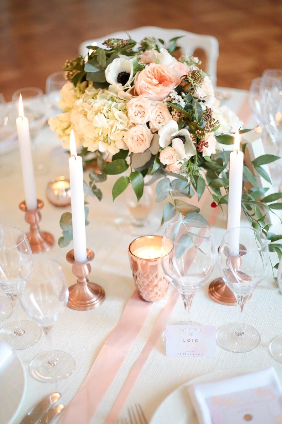 Mariage-rose-gold-décoration-de-table-3