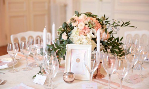 Idées pour la décoration d'un mariage rose gold