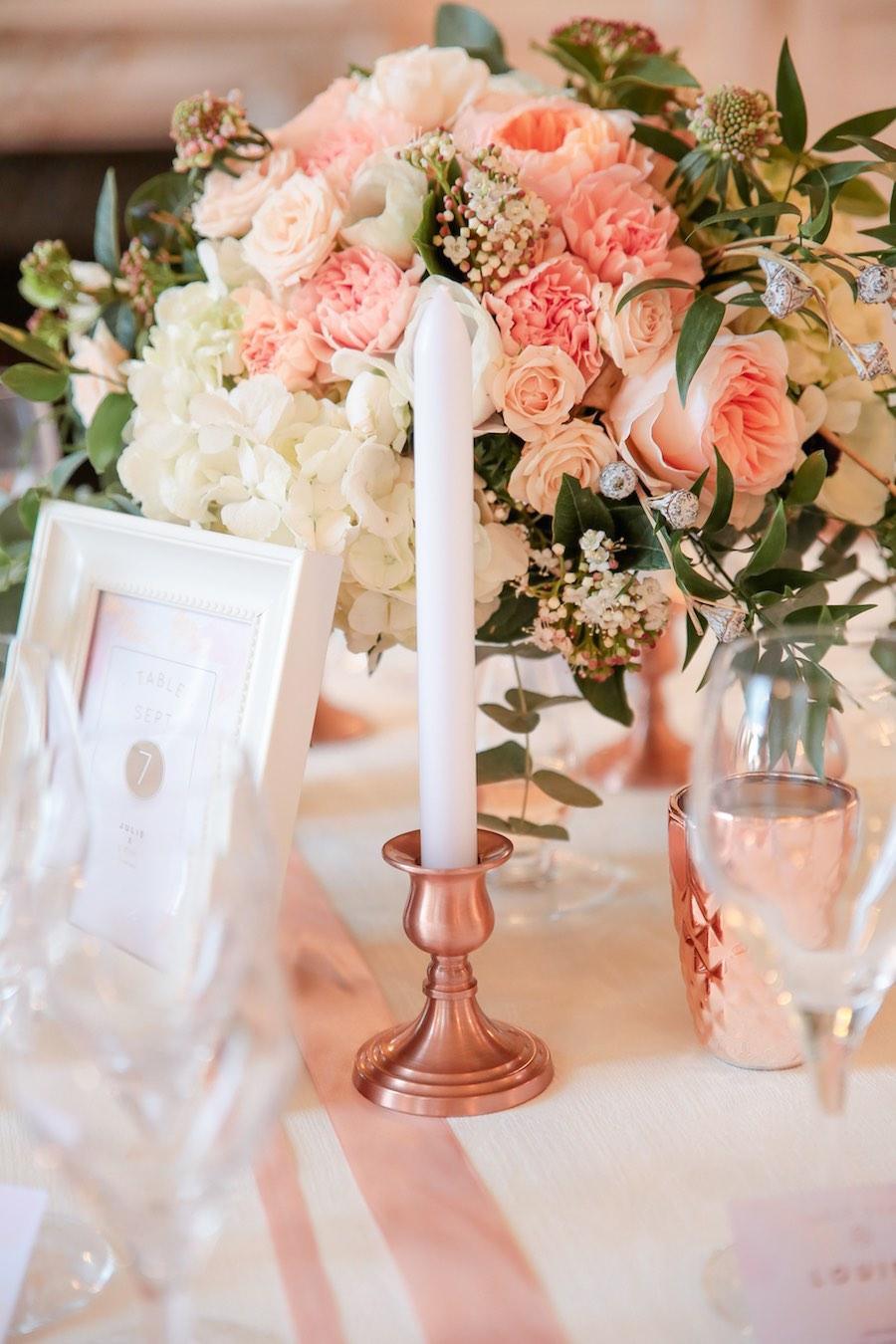 Mariage-rose-gold-décoration-de-table