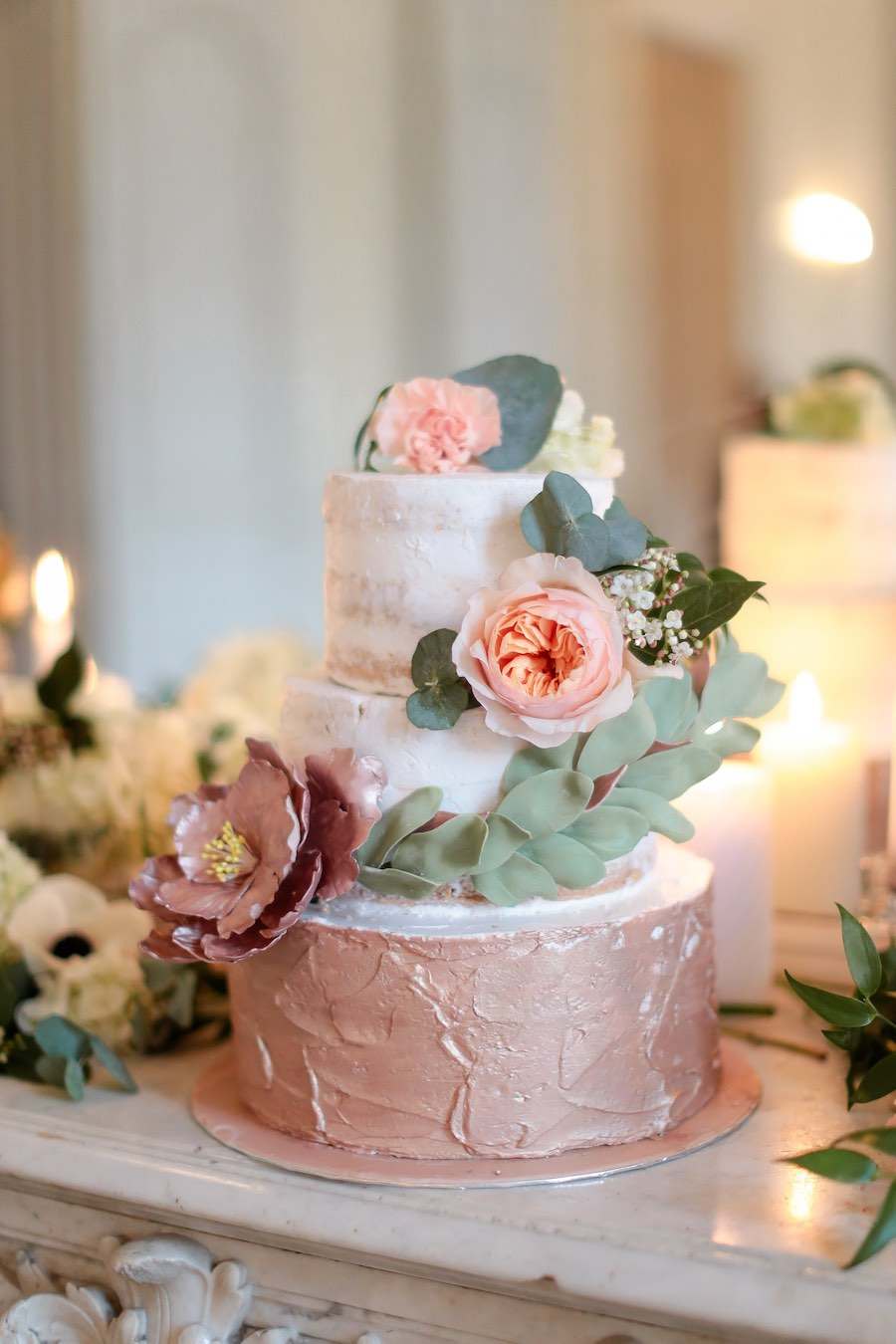Mariage-rose gold-wedding-cake